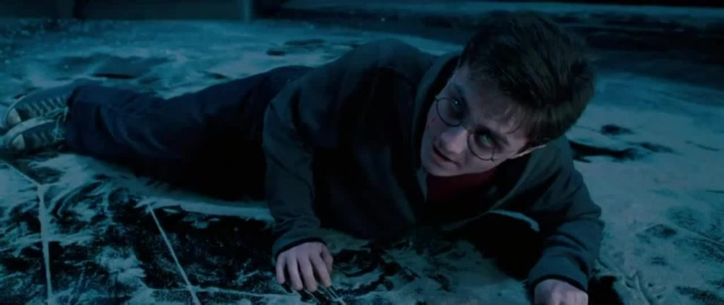 Harry possessed by Voldemort in the end of Order of the Phoenix.